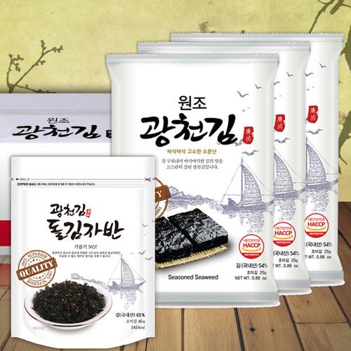 원조광천김 전장22봉+김자반3봉